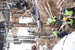 Despite a winter that came on long and strong, Knutson crews were well on their way to pouring footings and columns for the new emergency department in early 2014. There were many days when the temperatures dropped to nearly 20 degrees below zero making c