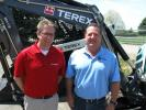 Terex USA Regional Manager Todd DeWindt (L) joined Ditch Witch Mid-States's Jeff Short at the Columbus, Ohio, location to discuss the dealership's line of Terex compact construction equipment.
