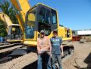 Whitcomb Brothers Grain Systems in Atwater, Minn., had brothers Greg (L) and Shane Whitcomb looking for equipment like this Komatsu PL220 for their expanding business.