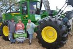 (L-R): Clyde, Roger and Lester Fraley of Fraley Bros. & Sons Logging, Marquette, Mich., join in the social media fun.
