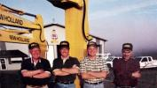 (L-R): Ron Wietbrock, David Wietbrock, Skip Henson and Terry Miller at Ronson's start up facility in Griffith, IND., September 2000.