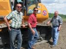 (L-R) Southeastern Equipment Company's Nick Ames, Dane Moore and Tom Lewis were on hand to discuss their company's Case 1650 M dozer equipped with Topcon machine control.