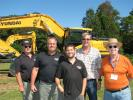 Hyundai dealer representatives of Aman Construction Equipment attend the event, including (L-R) Neal Cigelske, Chad Aman, Daniel Simon, Barry Simon and Larry Welch.