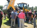 The newest technology and designs from Hyundai Construction Equipment draw attention during the event.