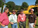 Hyundai's Stan Park (R) talks with the guys from East Alabama based dealer Forestry 21, including (L-R) Louis Greer, George Copelan and Ricky McConnell.