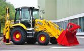 """JCB has produced a """"platinum"""" edition of its famous backhoe loader to mark its 70th  anniversary."""