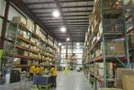 The parts warehouse is 10,000 sq. ft., with 28 ft. ceilings.