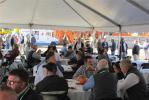 Guests enjoy lunch during the Hoffman Equipment open house.