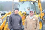 Greg Rarick (L), vice president of Rarick Excavating & Hauling of Ringtown, Pa., came to the auction with his dad, Bruce Rarick, president of Rarick Excavating & Hauling.