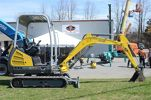 A Wacker Neuson hydraulic excavator was on display for open house guests.
