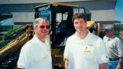 During Cleveland Brothers' 50th anniversary celebration in 1998, Tom Kirchhoff (R) posed for a photo with his father, William Kirchhoff Sr.