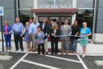 Participating in the ceremonial ribbon cutting for the new Norris Sales facility in Plymouth Meeting (L-R) are Lenore Bruno, vice chair, Plymouth Township Council; Martin Higgins, Plymouth Township Council; Karen Weiss, Plymouth Township manager; Dean Eis