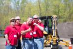 Jay Graves, Pete Sanchez, George Parker Jr. and Bob Moncrief, all of American Asphalt Company, were happy to attend the customer appreciation day.