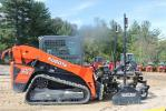 Attendees were able to test Chappell's Kubota SVL 75-2 track skid steer with a GPS Level Best Grader attachment.