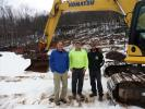 (L-R) are Mike Chason, Pine Bush Equipment; Mike Gorr, R & H Gorr Inc.; and Todd Houghtaling, Rototilt operator.