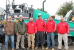 Ayotte Brothers Construction Company from Windsor Locks, Conn., attended the event. (L-R) are Mike Moccio; Laszlo Lindinger; Sonny Nelson; Matt Baker; Justin Ayotte, owner; and Josh White.