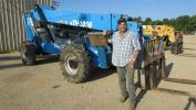 Randal Pinell, Pinell Piping Rigz, Pine Grove, La., is tired of renting, so he is thinking of buying this Genie GTH1056 highlift.
