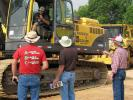 Quality iron was a big draw for the annual summer sale including this Volvo EC460B excavator.