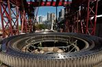 Photo/WSDOT This July 2015 photo shows the SR 99 tunneling machine's main bearing encircled by the gear ring that facilitates rotation of the cutterhead.