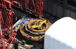 Photo/WSDOT An aerial view of Bertha, the SR 99 tunneling machine, as Seattle Tunnel Partners makes repairs in Seattle.