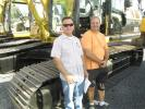 Larry Meyer (L) and Harold Peck, Peck Construction in Argyle, Texas, may be taking this Cat 325C excavator home with them.