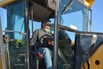 Bar H Equipment's David Hames put a Deere 772CH grader through the paces before bidding. Hames came all the way from Dalhart, Texas.