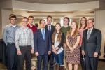 In September, Doosan, Bobcat Company and NDSU announced the 2015 academic year scholarship recipients benefiting from an endowment funded by a $3 million donation from Doosan and Bobcat Company and $1.5 million from the state of North Dakota. Seven of tho