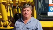 Wayne Smith, Wayne's Backhoe Service, is hoping to buy an 80,000-lb. excavator to take back to North Carolina.