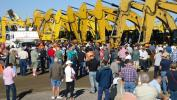 The excavator sale gets under way.