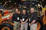 (L-R) are Dave Mazzuca, sales consultant of Sonsray Machinery; Ira Davis and John Bauer, both of Case Construction Equipment. Sonsray represents Case in California, Nevada, Oregon and Washington.