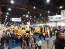 Crowds pour into Central Hall for World of Concrete, 2016 to see the displays of equipment and new products.
