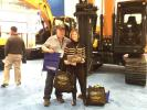 "Roger and Patricia Haftek, New York Concrete Washout of Patterson, N.J., won a model of the Hyundai HL960 at the show. It goes along perfectly with their six real Hyundai excavators. Patricia Haftek said, ""We just love this company."""