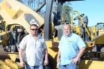 Nick Baker (L), president of GE Baker Construction, and CJ Cutter, president of Cutter Concrete & Excavating, both travelled from Ohio to the auctions.
