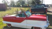 Arriving at the auction in his 1960 Nash Metropolitan is Gayle Fitzpatrick of Fitzpatrick Farms.