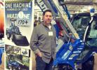 JJ Sutphin stands ready to answer questions about tthe Multi One articulated compact loader at the Buckeye Equipment Sales display.