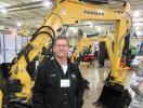 Rick Pileski, Buckeye Power Sales, explains the features of the Yanmar machines.