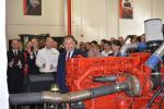 Gov. Herbert starts a diesel engine at the conclusion of the press conference.