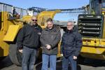 (L-R) are Michael Cristina, Empire State Cardboard Paper Recycling Corp; Gary Wade, All Island Equipment; and Bob Cristina Empire State Cardboard Paper Recycling Corp.