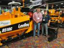 Ken Coulson (L) of Coulson Excavation, Loveland, Colo., has just had a presentation of the 8510C LeeBoy asphalt paver from Ken Black, president of McDonald Equipment Company in Commerce City, Colo.