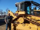Eric Crowley, owner of Crowley Equipment, Eugene, Ore., offers an extensive line of heavy-duty equipment like this Cat 527 dozer