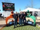 The Rotobec crew (L-R) are Francois Lafreniere, sales director; Ty Surowski, regional sales manager; and Jon Kinney regional sales manager. Rotobec featured a Facebook promotion to determine who has the most enthusiastic college fans in Oregon: ?#?Rotobec