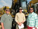 Regulars of JM Wood sales (L-R) are Brent Beverly and Blake Thornton, both of BTM Machinery, Charleston, S.C., and Sam Maier, Rebel Auction, Hazlehurst, Ga.