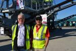 Andrew Pickering (L), regional sales manager of Terex Washing Systems and Gabriel Alvarez, Powerscreen territory manager of Mexico and South America, are on hand at the event.
