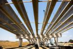 AGL Constructors photo. Beams for the new southbound bridge over Lewisville Lake.