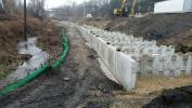 The general construction work includes installing retaining walls, site drainage retention ponds and a dedicated access driveway.