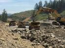 ODOT photo As a 10-year project to straighten 10 mi. (16 km) of narrow, curving dangerous highway through the Oregon Coast Range nears completion, Oregonians eagerly await the chance to drive the new stretch of road.