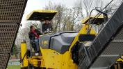 Customers could get on the Bomag equipment, operate it, and learn about the equipment first-hand from Bomag and Stephenson representatives.
