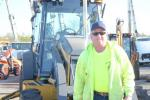 Larry Ernel, foreman for Ernel Company Inc., Aston, Pa., is ready for the auction to begin.