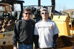 David Manning (L), owner of DMI Paving, Brattleboro, Vt., and his son, Brett Manning, are at the sale looking to update their fleet.
