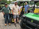 Heading out to the course are Travis DeMetro, T.J. Rademacher, Charles Stuck and Christian Caldwell, all of C.K. Contractors and Development, Kings Mountain, N.C.
